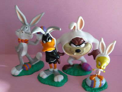 Oster Set Pc Figur Looney Tunes Bugs Bunny Tweety Daffy Duck Taz Applause Warner