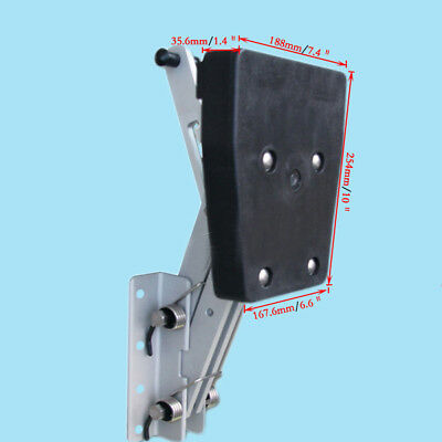 Heavy Duty Black Outboard Kicker 7.5hp-20hp 2-Stroke Aluminum Motor Bracket  U.S