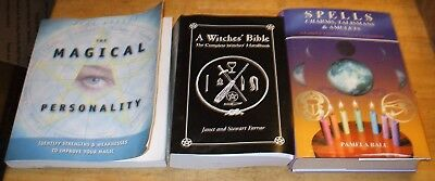 Lot of 3 Books: A Witches' Bible, Spells, and The Magical Personality