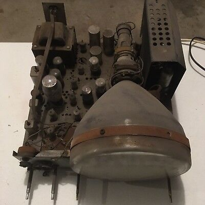 Antique Tv Chassis Ge 1948 Complete With Tubes Crt 10 Inch