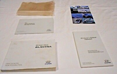 2013 Hyundai Elantra Owner Manual 5/pc.set U0026 Clear Plastic Hyundai Factory  Case