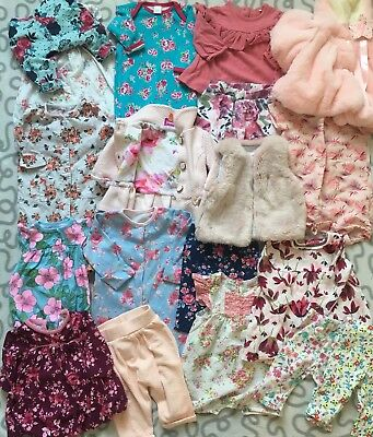 Baby Girls Newborn 0-3 Months Ted Baker Cath Kidston Floral Clothes Bundle