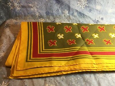 VTG Unused Oscar de la Renta BSA Boy Scouts Mother Dress Scarf Excellent