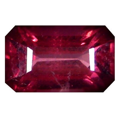 1.23 ct AAA+ Eye-opening Octagon Shape (7 x 5 mm) Pinkish Red Rhodolite Garnet