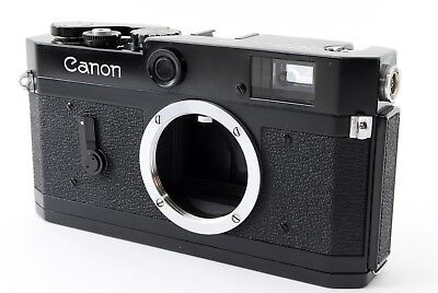 Canon P Black Paint (Repaint) Rangefinder Film Camera  [Exc+++] From Japan #123