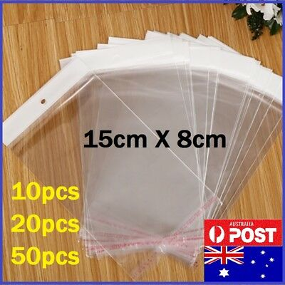 15cmX8cm Hangsell Cellophane Cello Clear Plastic Self Seal Bags Resealable NEW