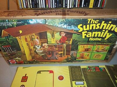 "Vintage 1973 Mattel ""The Sunshine Family Home Set"" in Original Box"