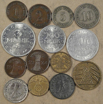 Germany 14 Dif. Types 1874-1941 Nice Group