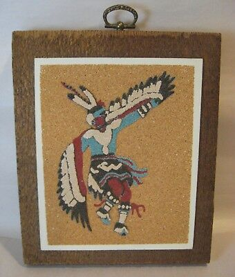 "Rainbow Way Ltd. ""The Eagle Dance Ceremony"" sand painting. wall hanging"