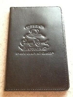 NEW Crown Royal Passport ID Holder Black Leather Travel Cover Protector