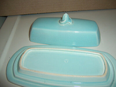 Luray Pastels Green Covered Butter Dish Oblong