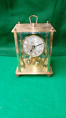 Vintage KERN & SOHN (K.u.S) brass Anniversary Carriage Clock 1960`s