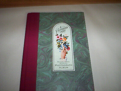 "A Victorian Posy Photograph Album by Sheila Pickles 1990 (8"" by 11"") Hardcover"