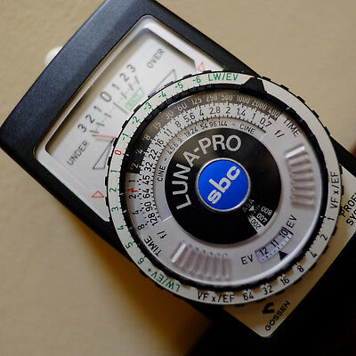 Gossen Luna-Pro sbc Light meter with manual & case