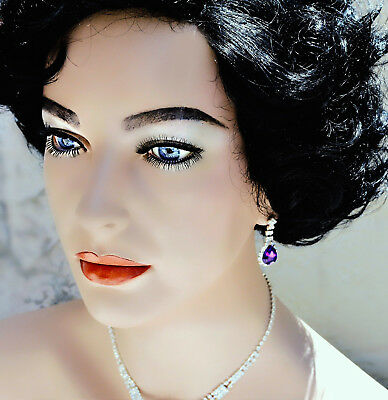 Elizabeth Taylor One of a Kind Lifesize Beautiful Bust w/ Violet Glass Eyes Liz