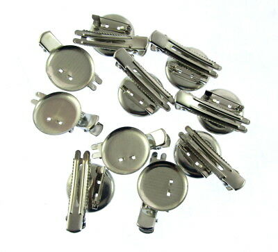 10 x Dual Brooch Base large Alligator Clip & Safety Pin Back DIY Hair Accessorie