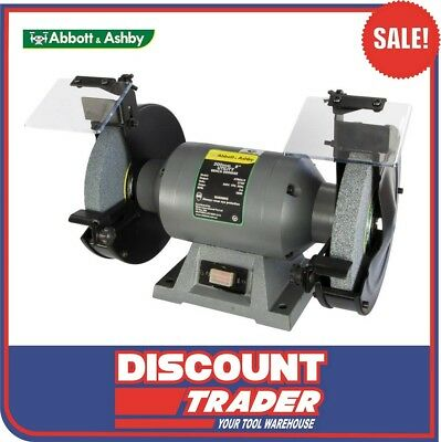 "Abbott & Ashby 375W 8"" 200mm Utility Bench Grinder ATBGU/8"