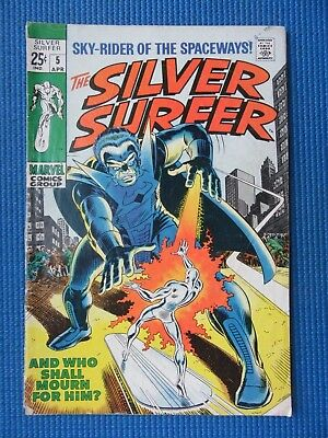 Silver Surfer # 5 - (Vg) - The Stranger - And Who Shall Mourn Him