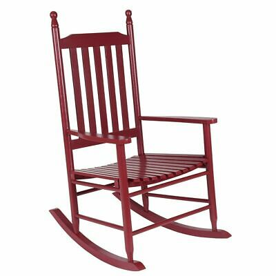 Wood Outdoor Rocking Chair, Wooden Rocking Chairs for Porch, Patio, Living Room,