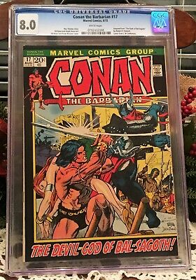 Conan the Barbarian #17 CGC  8.0 Very Fine    Marvel Comic Book  1970 Series
