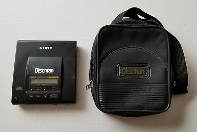 Sony Discman D-303 Portable CD Player W/ Carry Pouch - See Details