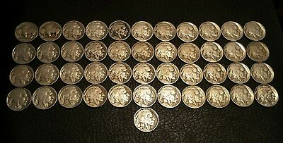 Rare Very Old Antique American US Coin Collection Money 45 pc Lot 1913 to 1938 d