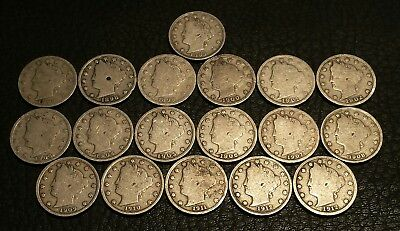 Rare Very Old Antique American US Coin  Collection Money 18pc lot 1883 to 1912 D