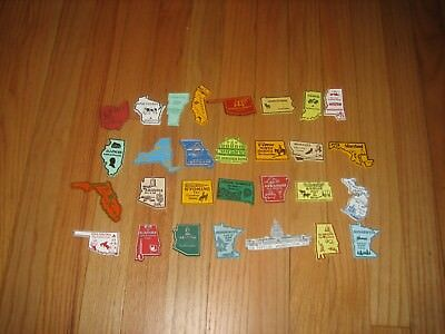(1)   Lot of 29 Souvenir US United States & More Refrigerator Magnets
