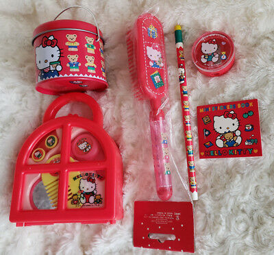 Vintage Sanrio Extra Value Hello Kitty Collectible 6 Pieces Lot