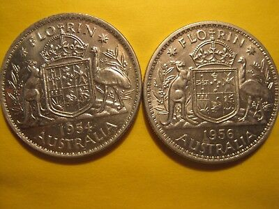 High Grade 1954 and 1956 Florins