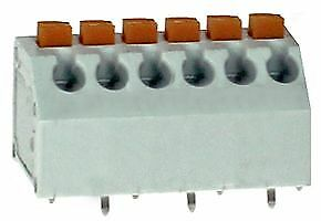 PCB TERM SCREWLESS 45DEG 3.81MM 6P Connectors Terminal Blocks - CZ50674