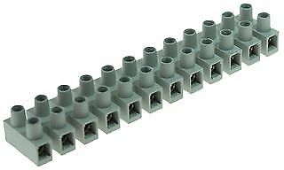 TERMINAL STRIP PA66 12P HI TEMP 6MM Connectors Terminal Blocks - CZ50576
