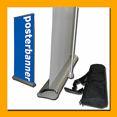 ROLL UP Display PREMIUM Luxus Version inklusive DRUCK 85 x 200 cm
