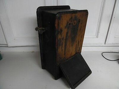 Old Telephone Wooden Case