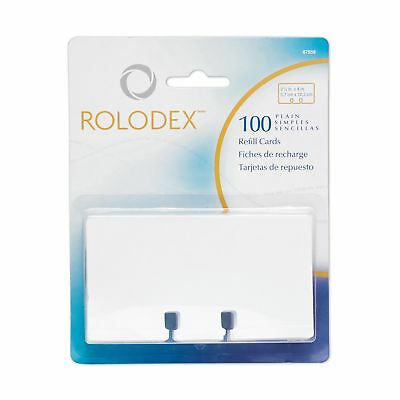 Rolodex Rotary File Card Refills, Unruled, 2-1/4 Inches Inchesx 4 Inches,... New