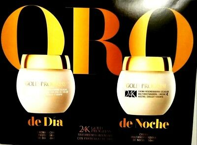 50 + 50 ml (DAY/ NIGHT) DELIPLUS Spanish Cosmetic  24K GOLD PROGRESS Face Cream