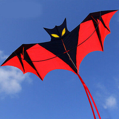NEW Vampire Bat Kite red easy to fly great gift Outdoor fun Sports 1.6*0.7M