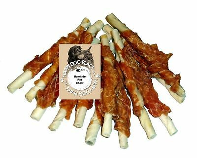 "HDP More Chicken Hide Dog Treats 5"" Pack of 24 New"