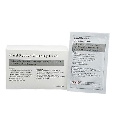 50pk Presaturated Swipe Head Cleaning Cards (Dual Side) New