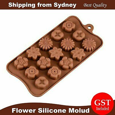 3D Flower Shaped Silicone Mold Cake Chocolate Ice Cube Soap Tray Baking Mould DI