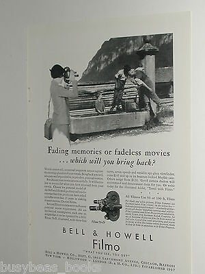 1930 Bell & Howell advertisement for FILMO Movie Camera, Filmo 70-D