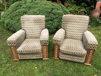 pair of comfortable small armchairs