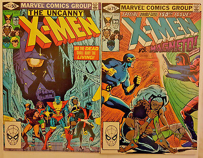 Marvel Comics UNCANNY X-MEN #149 & 150 1981 key MAGNETO issues