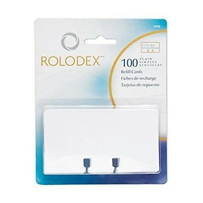 Rolodex Rotary File Card Refills, Unruled, 2-1/4 x 4 Inches, White (67558... New