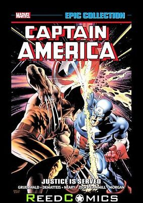 CAPTAIN AMERICA EPIC COLLECTION JUSTICE IS SERVED GRAPHIC NOVEL (512 Pages)