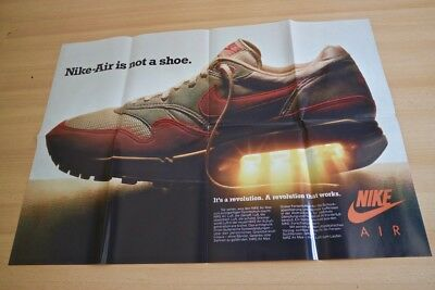 "Nike Air Max 1  Poster ""Nike Air is not a Shoe"" 83x59cm Vintage"