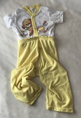 Vintage CURITY Baby Toddler 2 Piece Snap Together Pajamas Size 2
