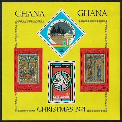 Ghana Stained Glass Christmas MS SG#MS738