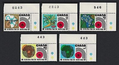 Ghana All African Trade F 5v Top Right Corners SG#625-629