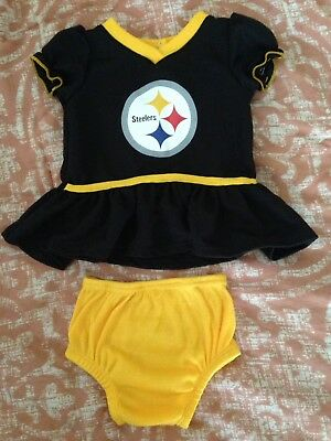 Infant Girls Steelers NFL 2pc set - worn once Size 0-3m